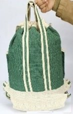 Backpack, Colored Hemp with Handle, Priced Each