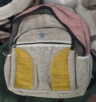 Balckpack Nautral Hemp with Front  and Side Pockets, 10.5