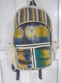 "Backpack, Tie-dyed Hemp, 10.5""x 16"", Priced Each"