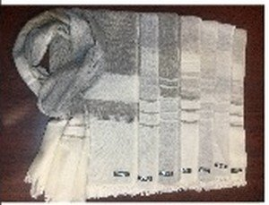 """Cashmere Blended Scarves with Wide Stripes and Tassel Fringe, 28""""x 80"""", Priced Each"""