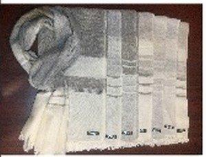 Cashmere Blended Scarves with Wide Stripes and Tassel Fringe, 28