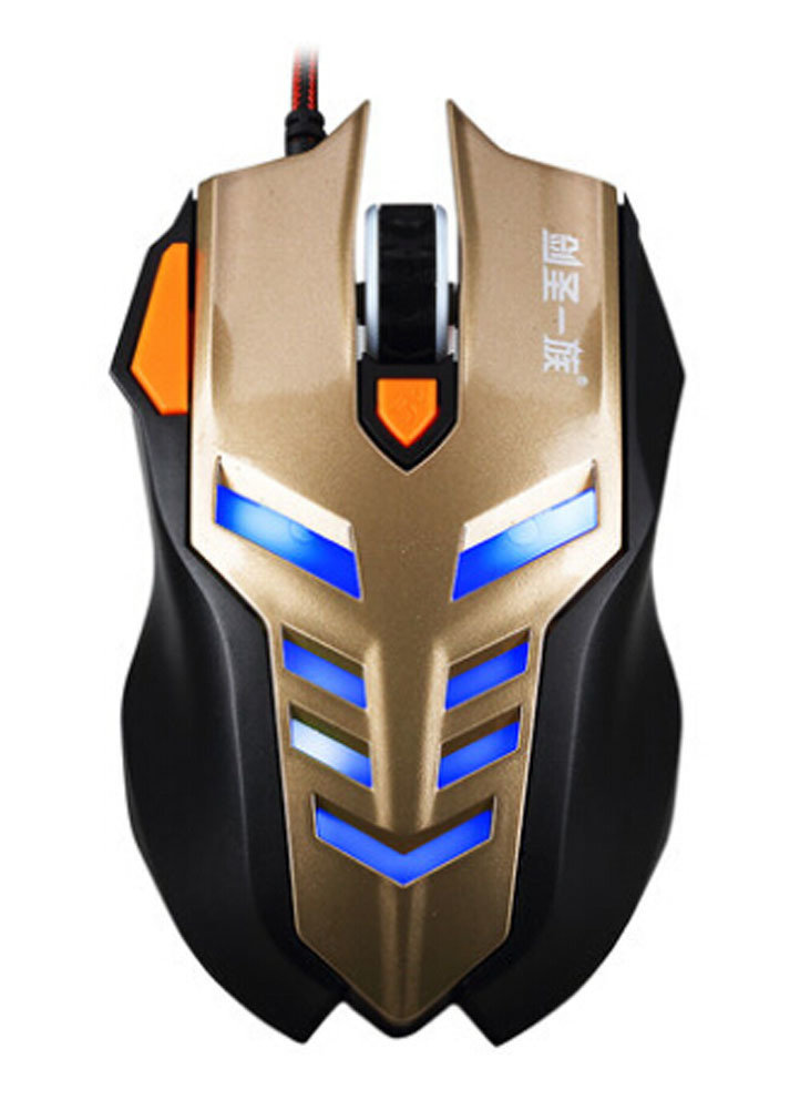 E-sports Game Mouse USB Notebook Computer Wired Mouse GOLDEN
