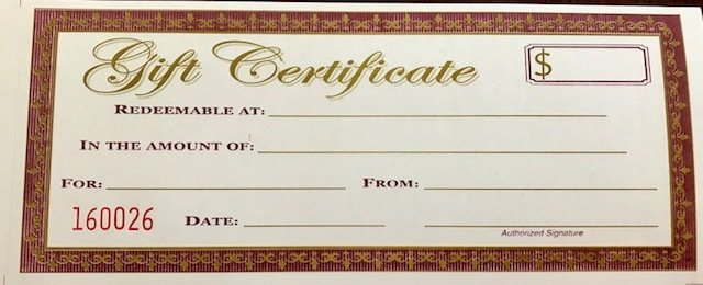 Gift Certificate - One year Annual Subscription