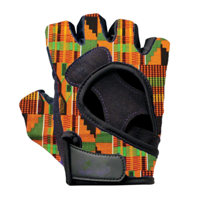 Kente Cloth Weight Lifting Gloves Originals