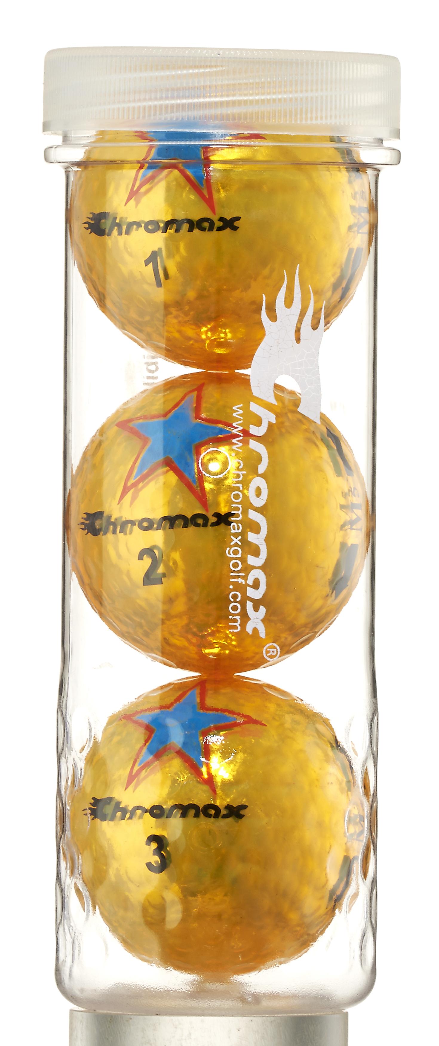 Chromax® Colored Gold Golf Balls - Limited Edition Star CM53GLDSTAR