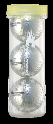 Silver Golf Balls - Chromax Distance 3 Ball Tube