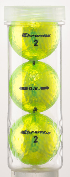 Green Neon Golf Balls - Chromax O.V. 3 Ball Tube COV753GRN