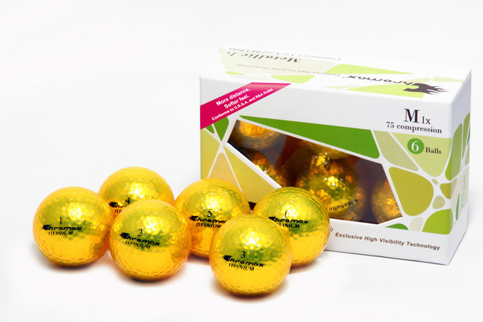 Yellow Golf Balls - Chromax M1x Half Dozen CM16GLD