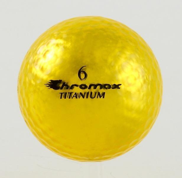 Chromax yellow golf ball M1x