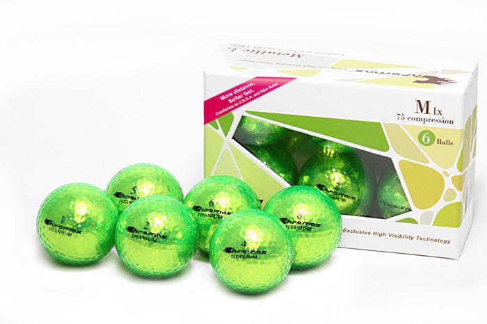 Green Golf Balls - Chromax M1x Half Dozen CM16GRN
