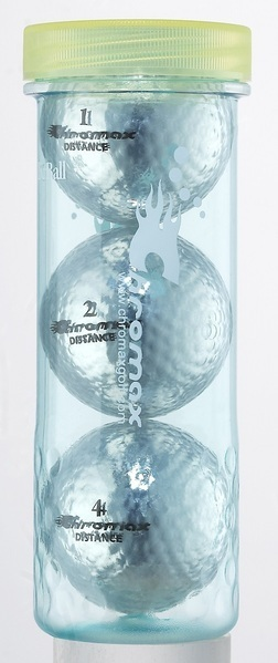 Silver Golf Balls - Chromax Distance 3 Ball Tube CMD3SIL