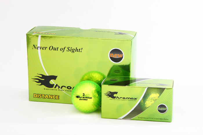 Green Neon Golf Balls - Chromax Distance Half Dozen CMD6GRN