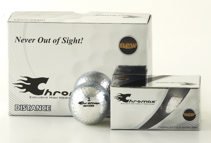 Silver Golf Balls - Chromax Distance Half Dozen CMD6SIL