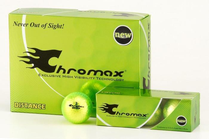 Green Neon Golf Balls - Chromax Distance 12 Box