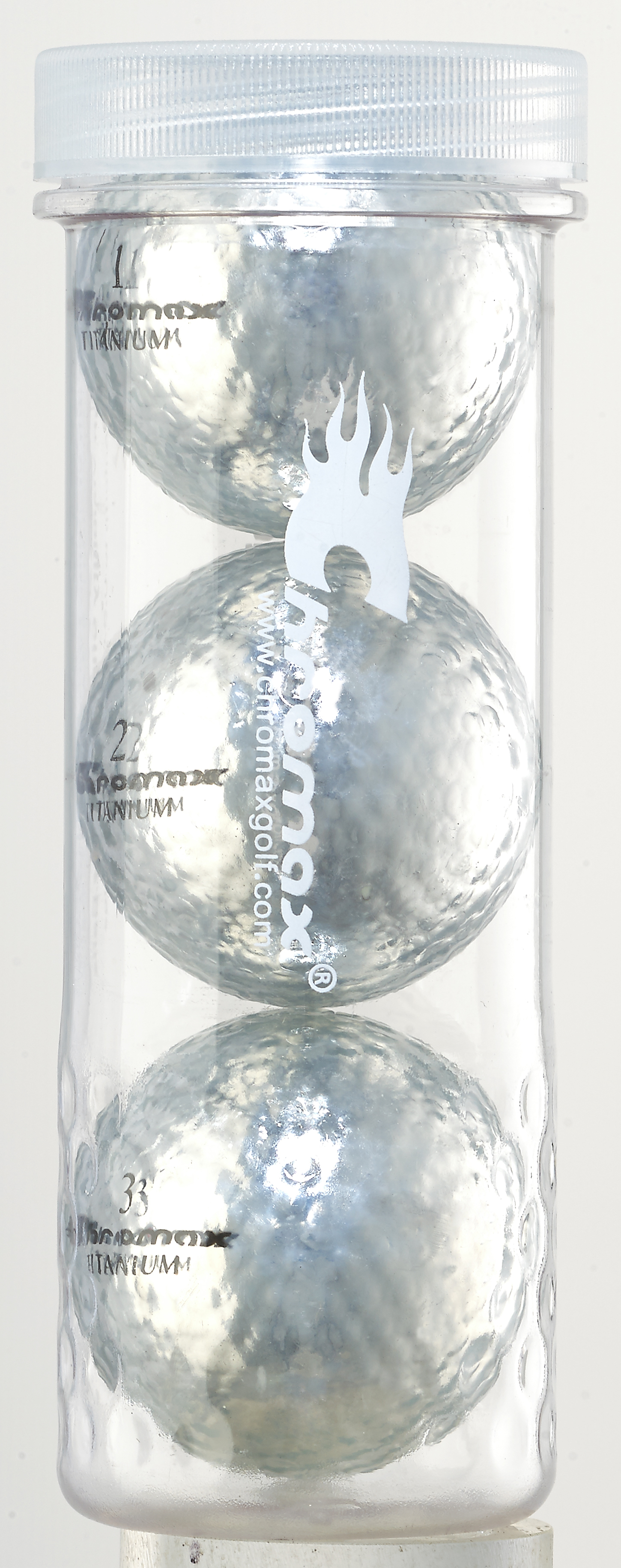 Silver Golf Balls - Chromax M1x 3 Ball Tube CM13SIL
