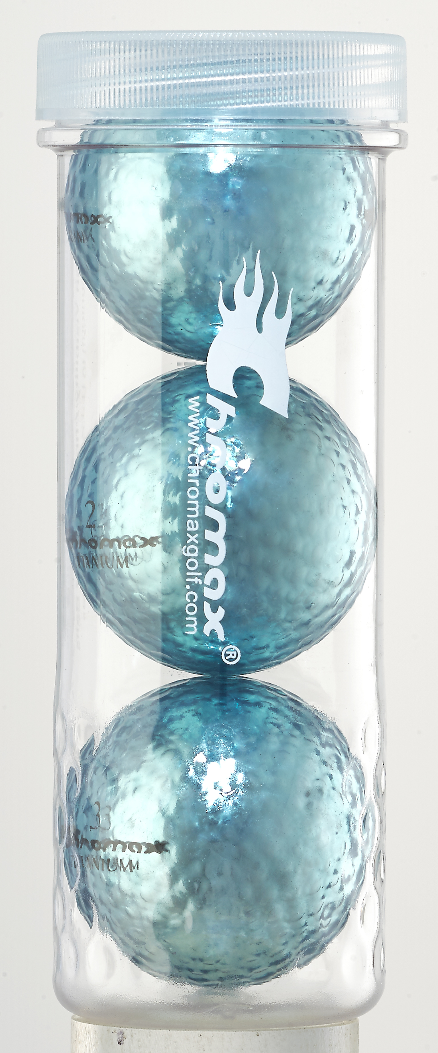 Blue Golf Balls - Chromax M1x 3 Ball Tube CM13BLU