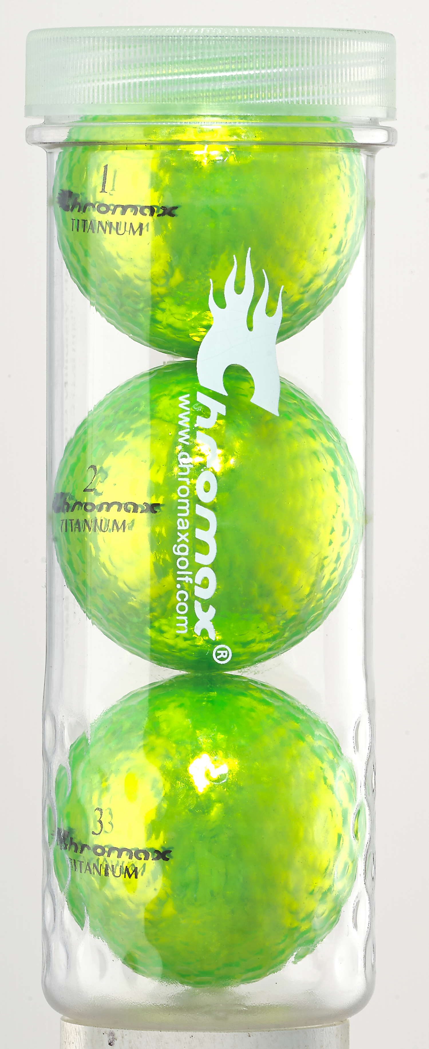 Green Golf Balls - Chromax M1x 3 Ball Tube CM13GRN