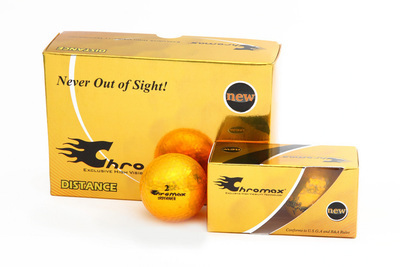 Gold Golf Balls - Chromax Distance Half Dozen