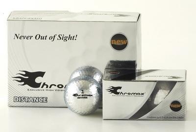 Silver Golf Balls - Chromax Distance Half Dozen