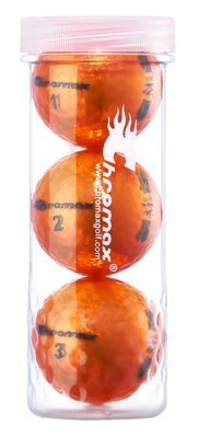 Chromax® Colored Orange Golf Balls - Metallic M5 3 Ball Tube