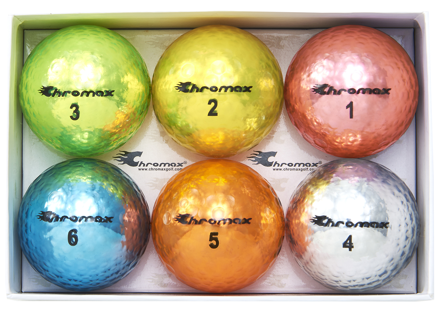 Chromax mixed golf balls M5 6-pack open