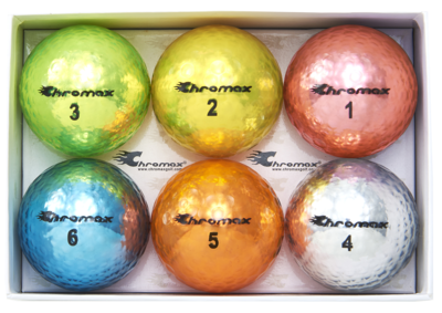 Chromax® Colored Mixed Golf Balls - Metallic M5 6 Ball Pack