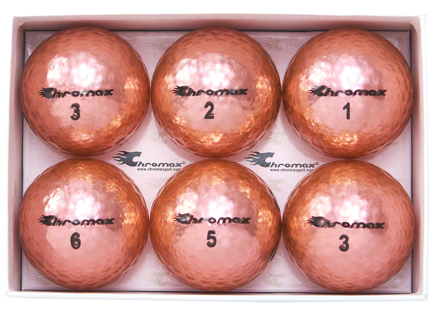 Chromax pink golf balls M5 6-pack