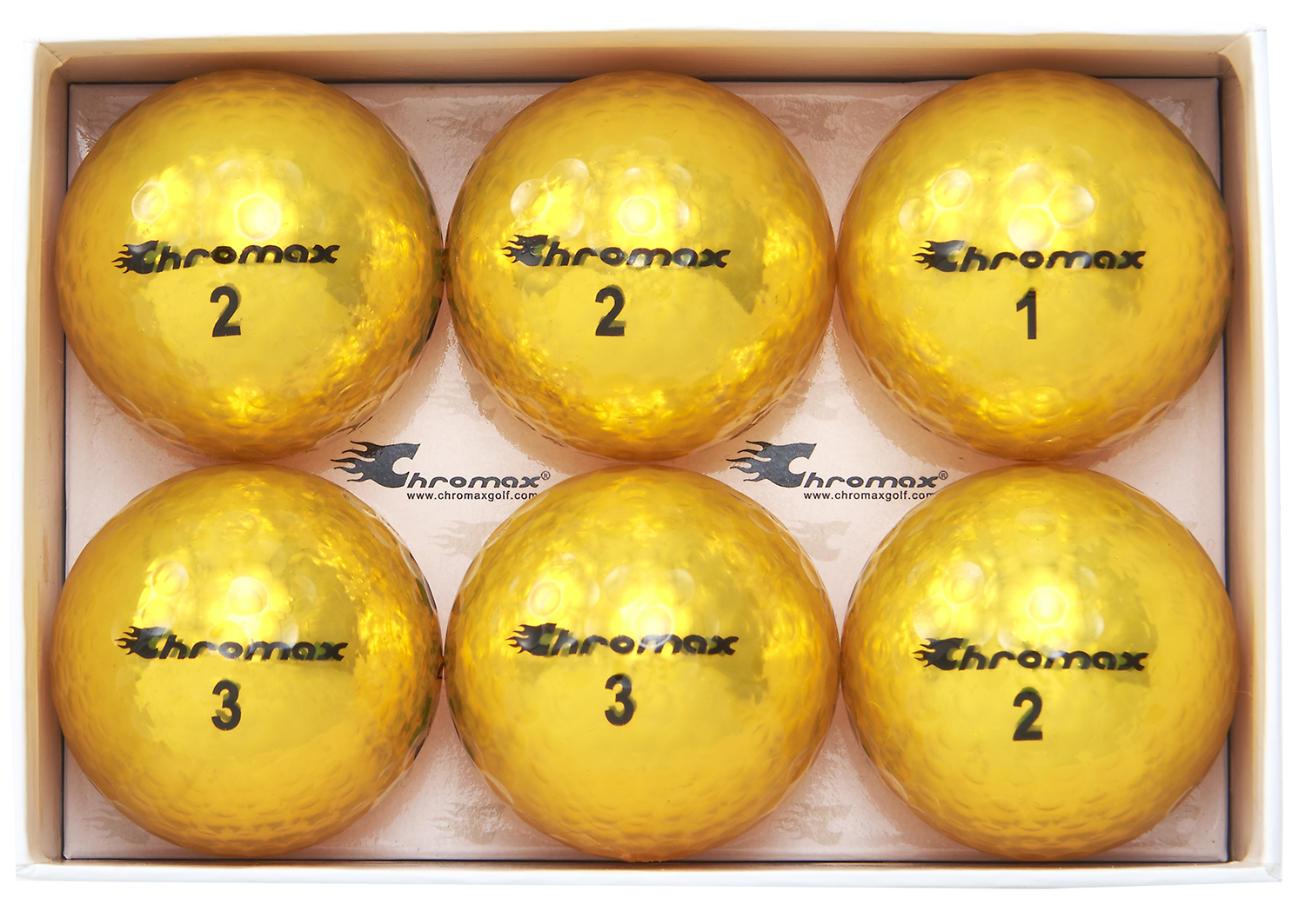 M5 gold golf ball open 6-pack