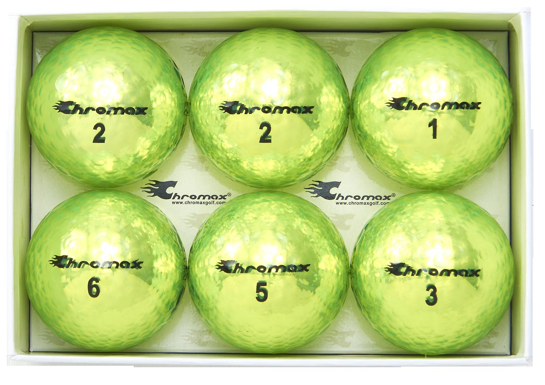 Chromax green neon golf ball M5 open 6-pack