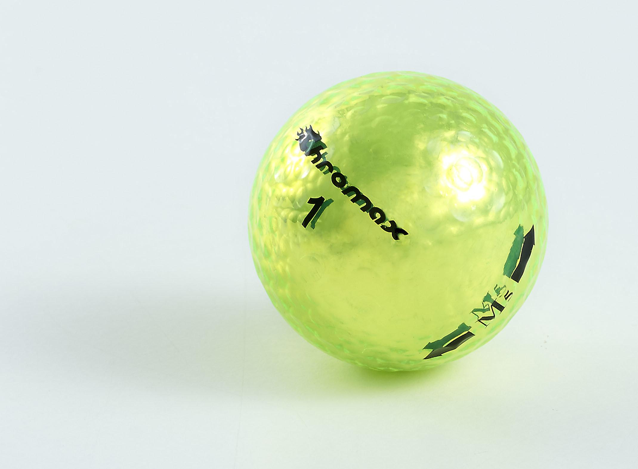 Chromax green neon golf ball M5