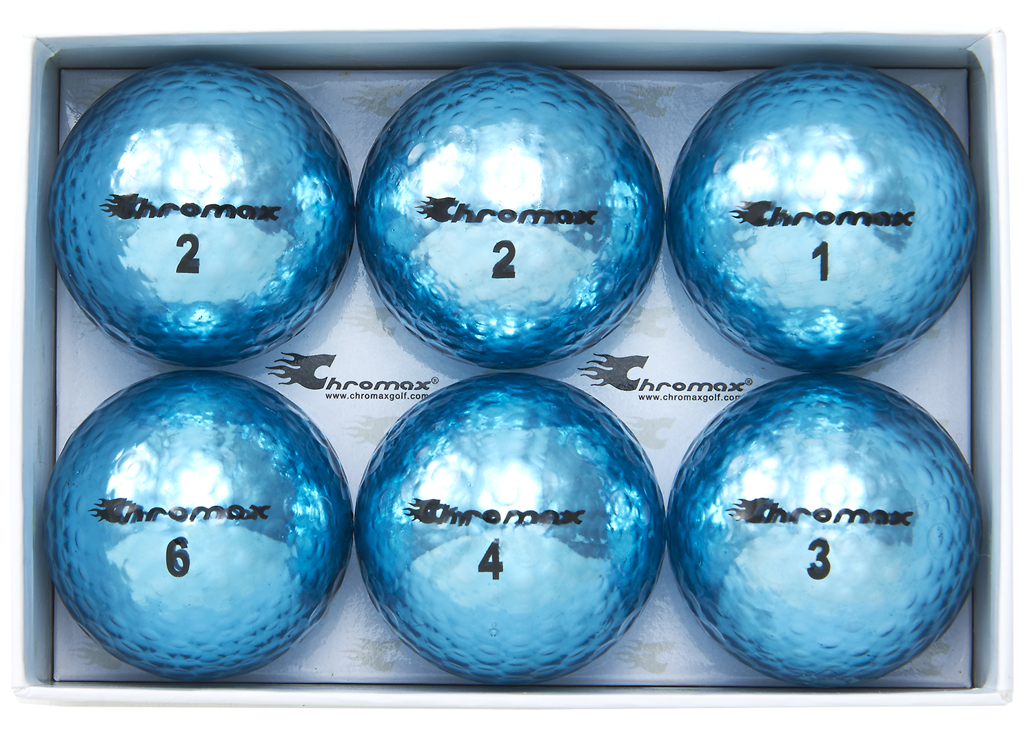 Chromax blue golf ball M5 6-pack