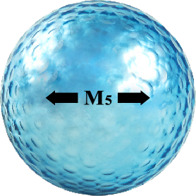 Chromax blue golf ball M5