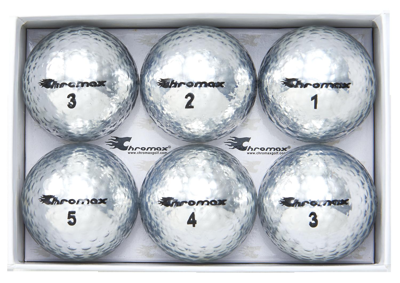 Chromax silver golf ball M5 6 pack open