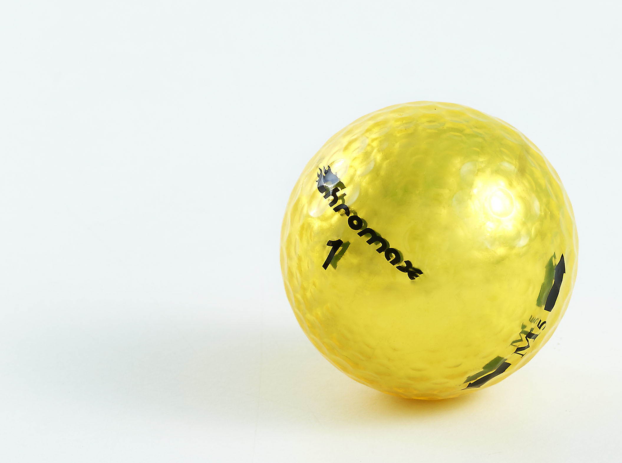 Chromax yellow golf ball M5 single