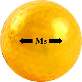 Chromax gold golf ball M5 sightline