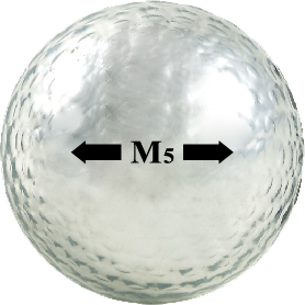 Chromax silver golf ball M5 sightline