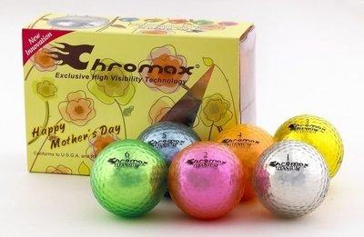 Multicolor Golf Balls: Chromax M5 1/2 Dozen (Mother's Day Edition)