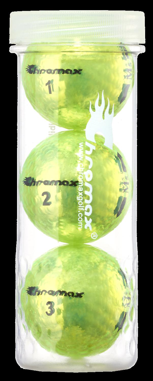 Chromax® Colored Green Neon Golf Balls - Metallic M5 3 Ball Tube