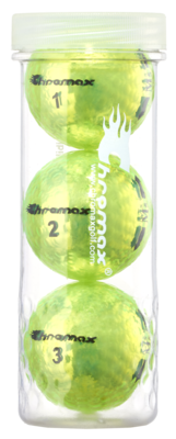 Chromax® Colored Green Neon Golf Balls - Metallic M5 3 Ball Tube