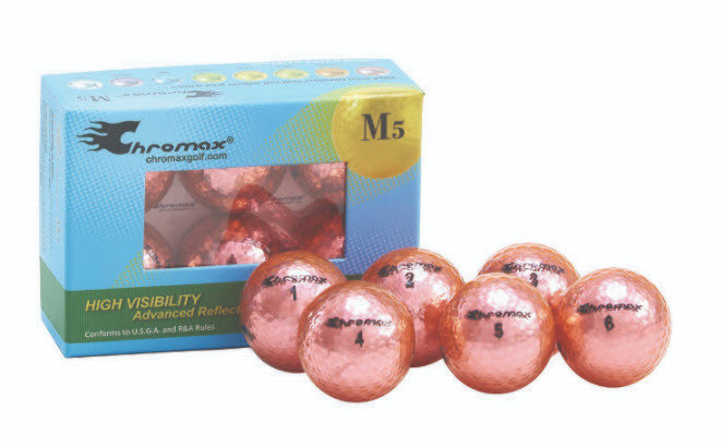 Chromax® Colored Pink Golf Balls - Metallic M5 6 Ball Pack CM56PNK