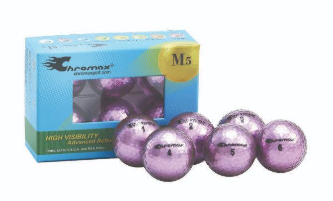 Chromax® Colored Purple Golf Balls - Metallic M5 6 Ball Pack CM56PUR