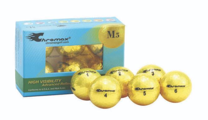 Chromax® Colored Yellow Golf Balls - Metallic M5 6 Ball Pack CM56YEL