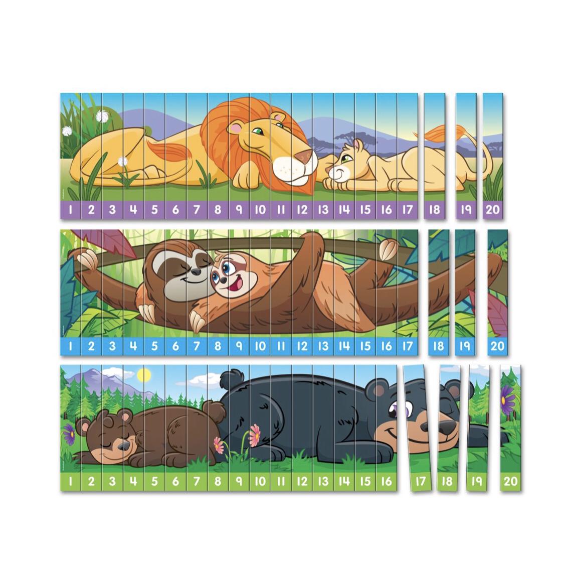 """Головоломки """" Животные. Счет от 1-20 """" LL568"""