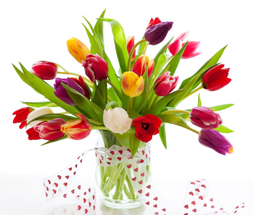 Valentines Bouquet Of Tulips