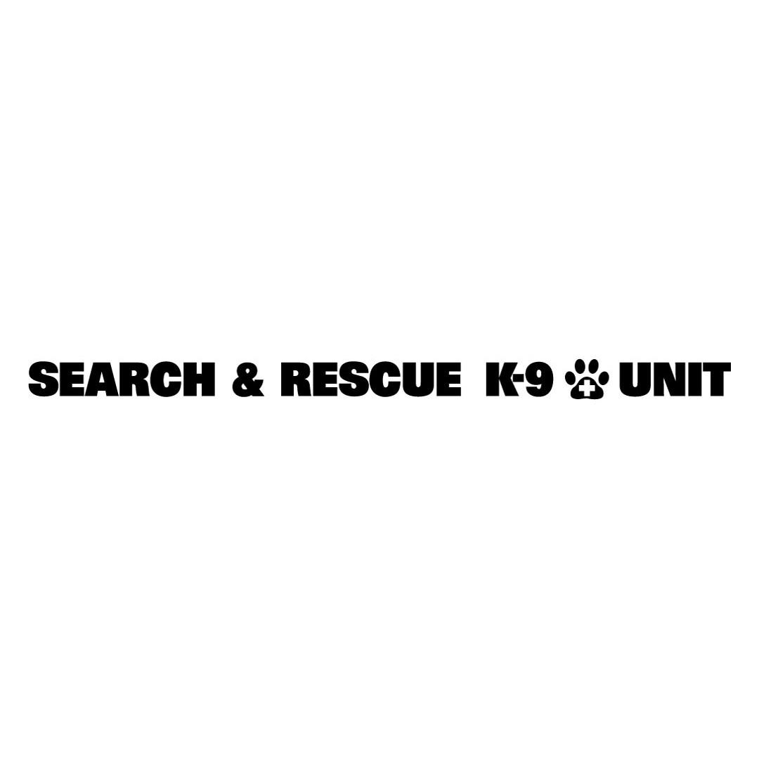 Window Decal (Die-Cut): SEARCH & RESCUE K-9 UNIT