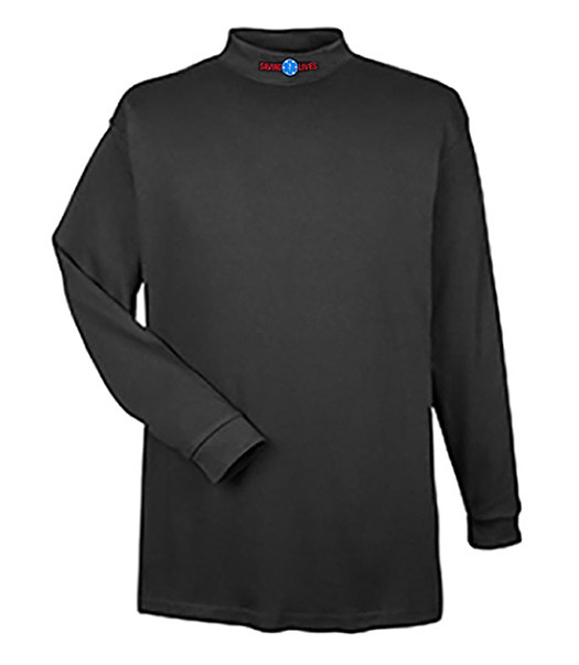 Mock Turtleneck Long Sleeve (Dri-Wear): EMS Saving Lives