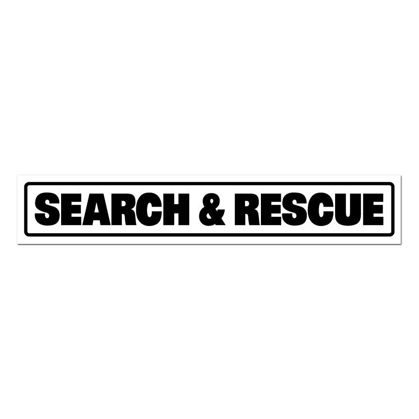 "Magnetic Vehicle Sign (Reflective): SEARCH & RESCUE 14"" x 2-1/2"""