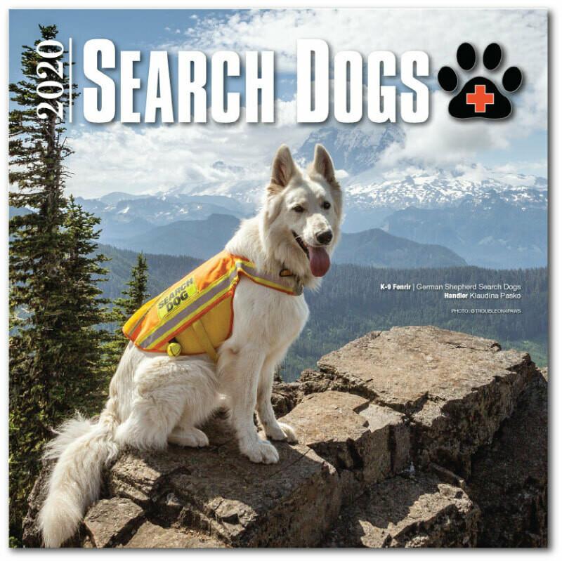 2020 SEARCH DOGS Wall Calendar