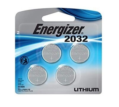 4-Pack Lithium Coin Cell Batteries (CR2032)