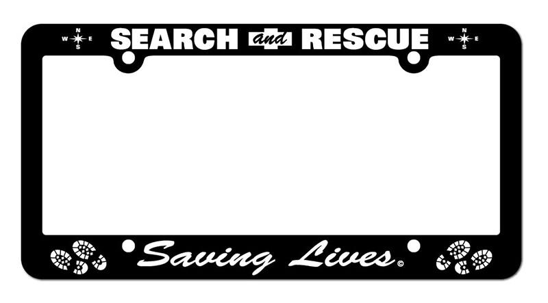 License Plate Frame: Search & Rescue